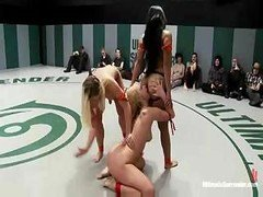 Nude wrestling the way it should be, hot and furthermore horny for each and all