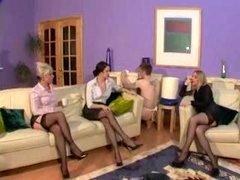 Six Stockings Legs Mistress Sub