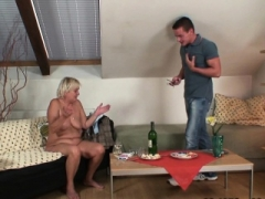 Wife leaves and furthermore he fucks grown-up blonde from behind
