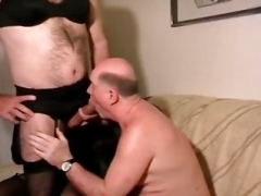 mature man with crossdressers daddy drink piss and furthermore cum - Pornhu