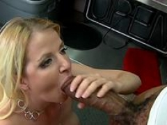 Sizeable black fuck pole for blonde milf