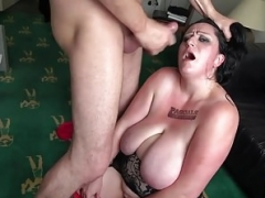 Thick whore Curvy Gal face fucked and also dominated by weighty purple rod