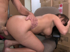 Latina takes her top and panties off and has a facial in the backroom