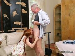 College Floozy Dolly Tiny Sucks On Sugar Daddys Ramrod