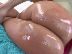 Round ass milf Melanie Monroe oiled up and lustily fucked