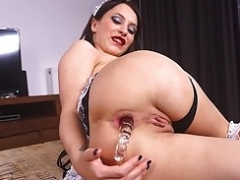 Sandra Luberc rips her booty with large love tool interraced.com