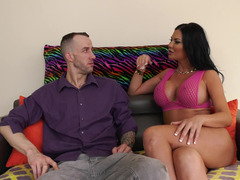 Hot dark-haired MILF seduces dude and gets analyzed by him