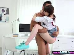Aroused Luna Rival loves big cock in her tight ass