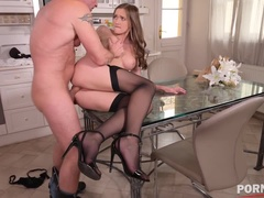 Ultimate seXXXperience with horny Stacy Cruz pussy fucking in the kitchen GP1352