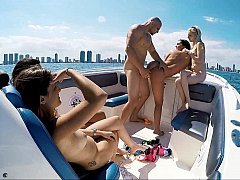 Crazy orgy on a boat