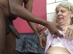 Greedy granny seduced by excited stepson