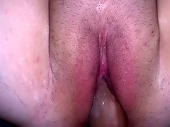 Hot curvy girl gets fucked then creampied