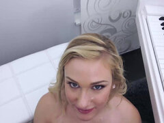 Daisy Lynn swallows like a lean mean supreme penis guzzling machine