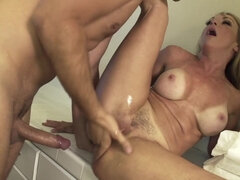 Hung guy fucks stepmom after getting caught sniffing panties