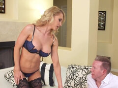 Hotwife Alix Lynx takes her hubby's bro's dick balls deep for cash