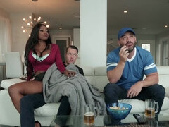 Diamond Jackson fucks stepson in front of his dad