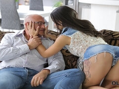 OLD4K. Tender creature Mira has unexpected assfuck sex