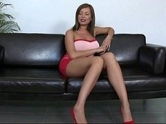 Long legs and plus big tits. Donna Bell