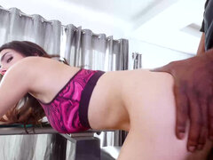 Valentina Nappi gets a bbc up her holes behind dad's back