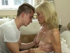 Grown-up granny cum soaked