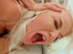 Servants reeducate bitchy blonde MILF by double penetration