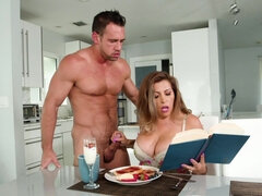 Johnny Castle bangs his girlfriend while she is reading a book