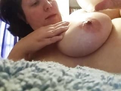 Self Torture Hot Wax Dripping on Boobs