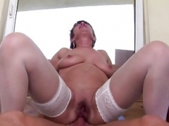Grown-up mother gets anal sex from lucky son