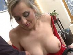 Bigtitted cougar wants his porky shaft