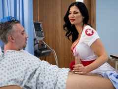 MILF with gorgeous big boobs Jasmine Jae screwed in the missionary pose