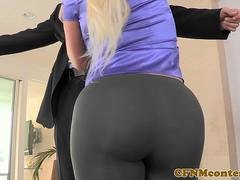 Big booty cfnm babe doggystyled