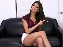 Veronica Rodriguez pleasures herself with a dong