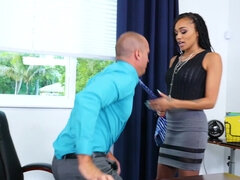 Julie Kay fuck her co-worker big dick