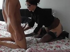 Wacky slut gets creampie from her friends.