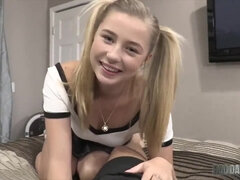 Diminutive College Doll Step Daughter-In-Law Carolina Sweets Tempts her Step Father!