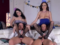 Foot Fetish Foursome: New Year's Eve Party Gets Naughty