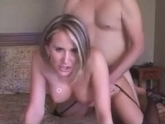 Messy Chatting COUGAR won't Shut up while being Penetrated