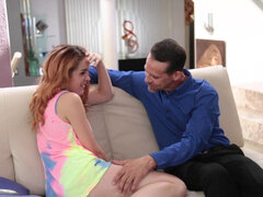 Amarna Miller get ass spanked & dicked down by her perv uncle