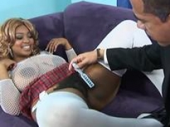 Aryana Starr is an utterly plump, black, blonde diva, who sits on Barracks