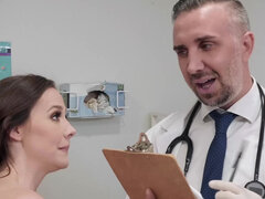 Chanel Preston gets her pussy fucked tnen inseminated in doctor's office