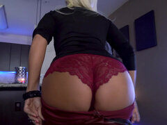 Platinum blonde milf Brittany Andrews has an affair with her stepson