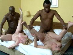 Two Black Brothers Sodomy Old White Sluts On The Bed