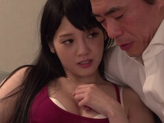 Hot Rei Mizuna gives a magic blowjob
