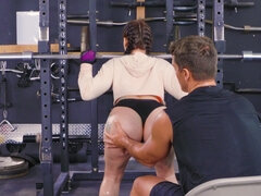 Mandy Muse gets hard anal fucked in the gym