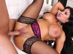 Busty MILF in Stockings has Rough Anal Sex with cumshot