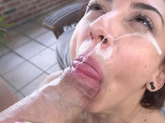 Petite Mandy gets nailed outdoor hardcore