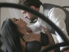 Exotic goddess has passionate sex with handsome inamorato