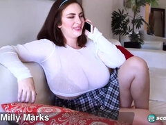 Milly Marks is a big titted, college girl who likes to have sex way more than studying