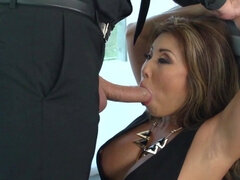 Asian woman was forced to suck cock