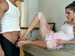 Ballerina With Sexy Feet In Action
